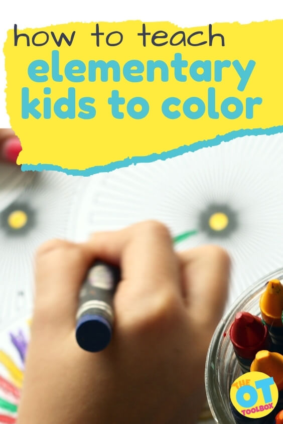 Information and tools to teach elementary kids to color.