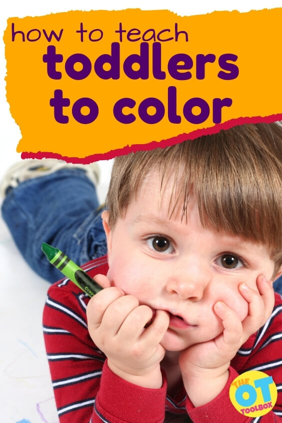 Resources and information on how to teach toddlers to color.