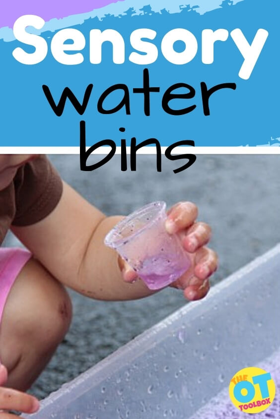 Sensory water bins and sensory water table ideas for water therapy with kids.