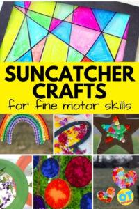 Suncatcher crafts for kids