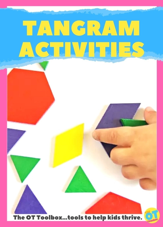 Tangram activities for occupational therapy interventions