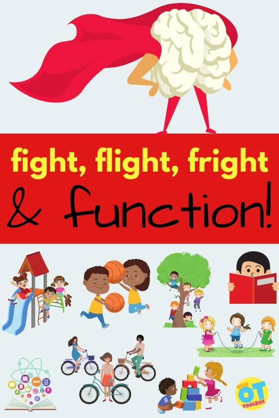 Fight, flight, fright, and function for behavioral regulation to get things done impacted by the limbic system.