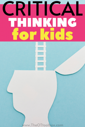 Critical thinking is a big term that encompasses many skills including executive functioning, thinking, doing, and regulation.
