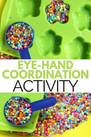 Eye hand coordination activity
