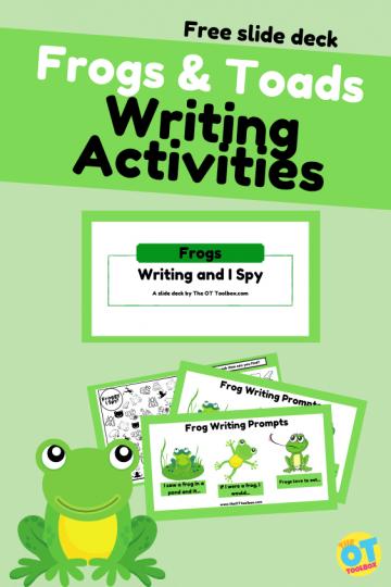 frog writing activities