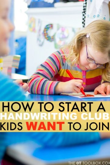 How to start a handwriting club that kids want to join