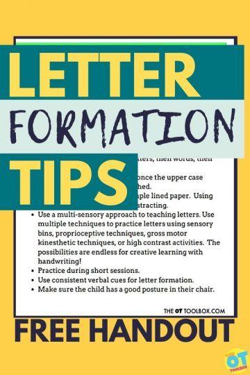 Letter formation handout