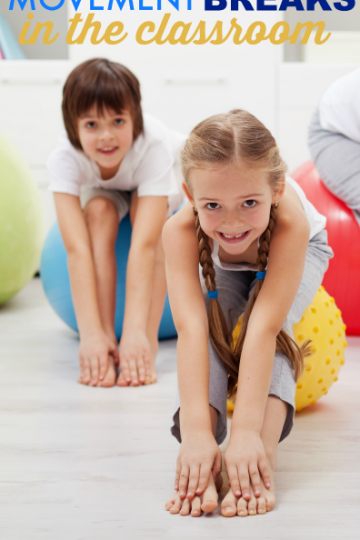 Movement breaks in the classroom ideas and activities for the classroom
