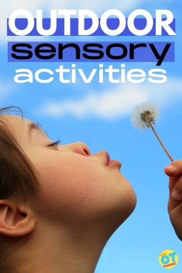 outdoor sensory activities for kids with sensory processing challenges.