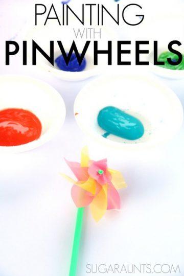 pinwheel painting