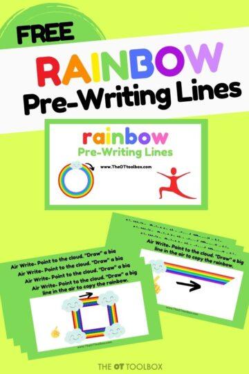 prewriting lines activity rainbow slide deck