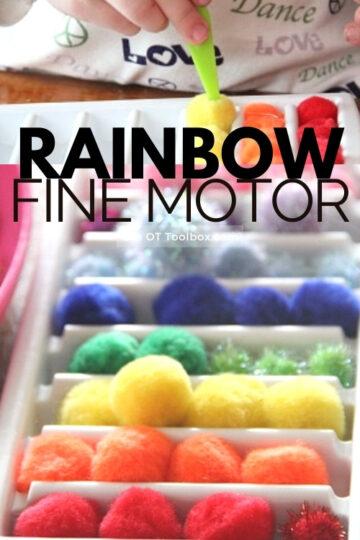 rainbow sort fine motor activity