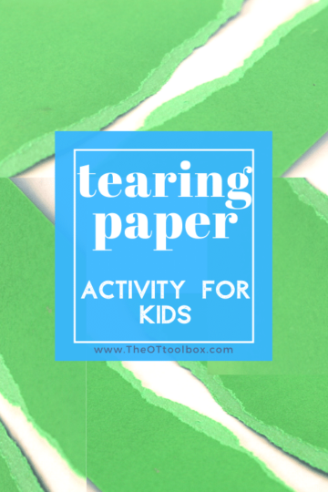 Tearing paper activity for kids