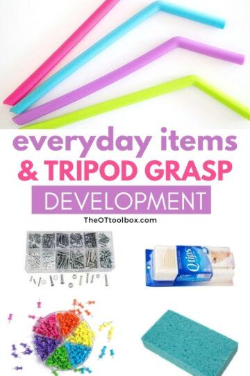 tripod grasp using household items
